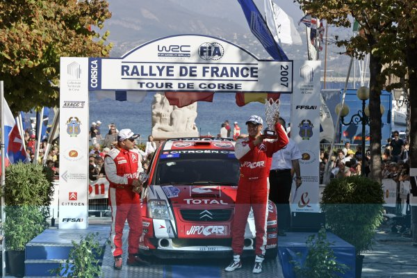 2007 FIA World Rally ChampionshipRound 13Rally of France, Tour de Course 200711-14 October 2007Martin Prokop, Citroen JWRC, Podium.Worldwide Copyright: McKlein/LAT