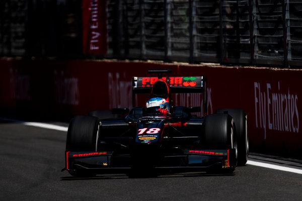 2017 FIA Formula 2 Round 4. Baku City Circuit, Baku, Azerbaijan. Friday 23 June 2017. Nyck De Vries (NED, Rapax)  Photo: Zak Mauger/FIA Formula 2. ref: Digital Image _54I9739