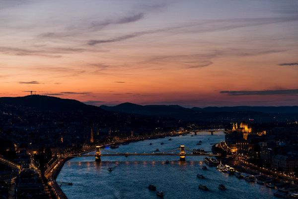 Hungaroring, Budapest, Hungary. Monday 5 June 2017. A view of the city at sunset. World Copyright: Zak Mauger/LAT Images ref: Digital Image _56I0581