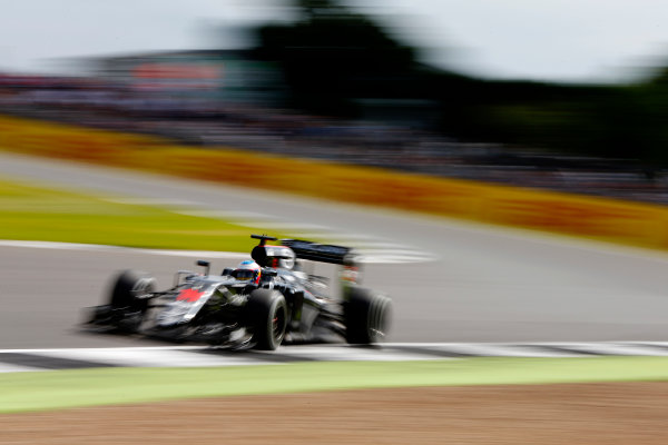 Silverstone, Northamptonshire, UK Friday 8 July 2016. Fernando Alonso, McLaren MP4-31 Honda. World Copyright: Hone/LAT Photographic ref: Digital Image _ONZ9923
