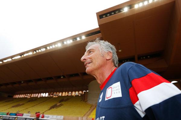 Monte Carlo, Monaco. Tuesday 19 May 2015. Riccardo Patrese at the 22nd World Stars Football match. World Copyright: Charles Coates/LAT Photographic. ref: Digital Image _J5R5425