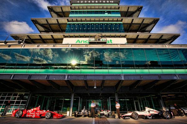 11-18 May, 2015, Indianapolis, Indiana, USA Chevrolet aero kit introduction.  Chris Berube, Chevrolet IndyCar program manager, and Arron Melvin, Aerodynamicist ©2015, Michael L. Levitt LAT Photo USA