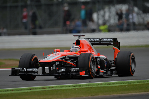 Jules Bianchi (FRA) Marussia F1 Team MR02.Formula One World Championship, Rd8, British Grand Prix, Practice, Silverstone, England, Friday 28 June 2013.