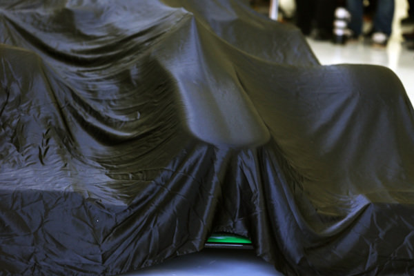 The Force India VJM06 prior to unveiling. Force India VJM06 Launch, Silverstone, England, 1 February 2013.
