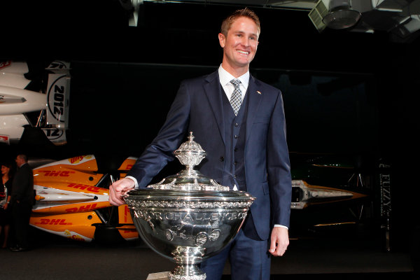6 December, 2012, Indianapolis, Indiana USA Ryan Hunter-Reay with Astor Cup.(c)2012, Russell LaBounty LAT Photo USA .