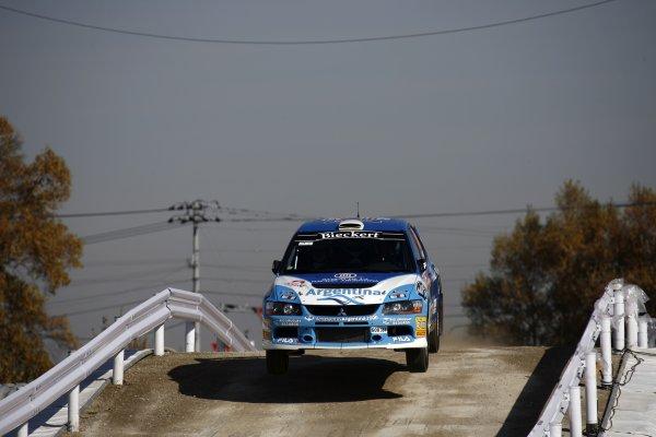 2007 FIA World Rally Champs. Round 14Rally Japan, 25th - 28th October 2007Gabriel Pozzo, Mitsubishi, actionWorld Copyright: McKlein/LAT