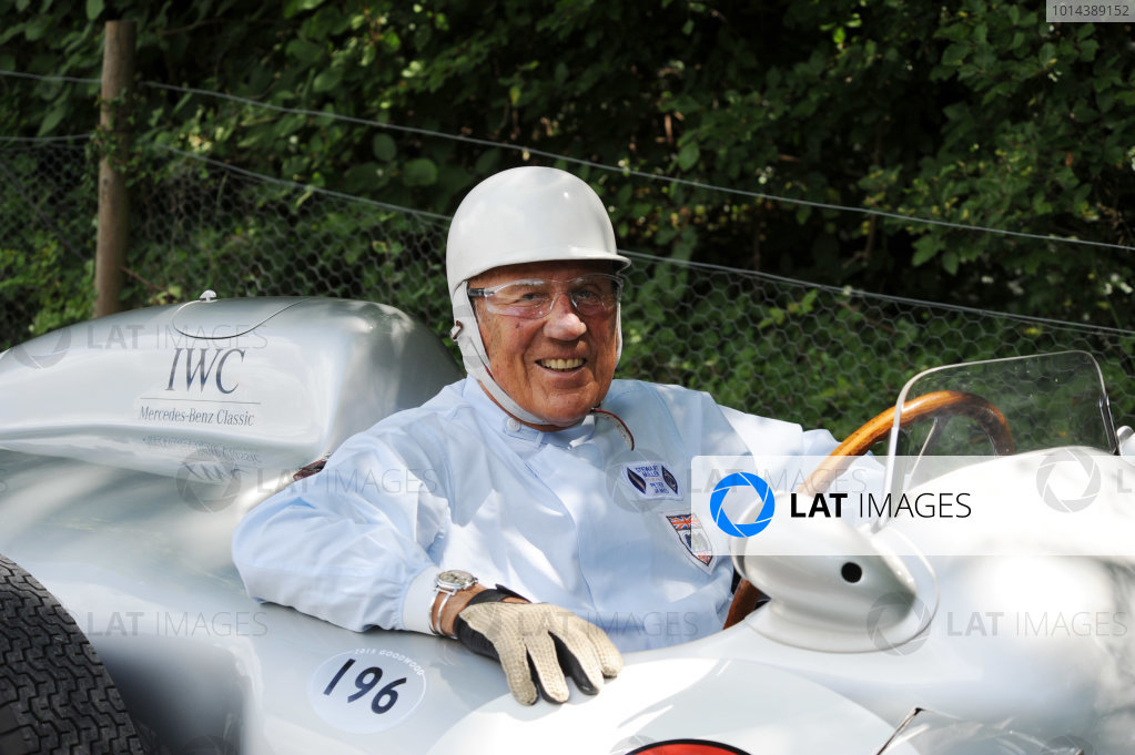 2015 Goodwood Festival of Speed 25th - 28th June 2015 Sir Stirling Moss World Copyright : Jeff Bloxham/LAT Photographic Ref : Digital Image