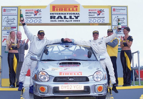 2002 British Rally Championship.Pirelli International Rally, Gateshead, April 26-28 2002.Tapio Laukkanen and Ilka Riipinen, Subaru Impreza, third.World Copyright: Griffiths/LAT PhotographicRef: 35 mm original transparency