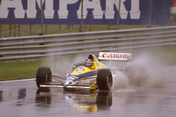 Montreal, Quebec, Canada.16-18 June 1989.Thierry Boutsen (Williams FW12C Renault) 1st position.Ref-89 CAN 05.World Copyright - LAT Photographic
