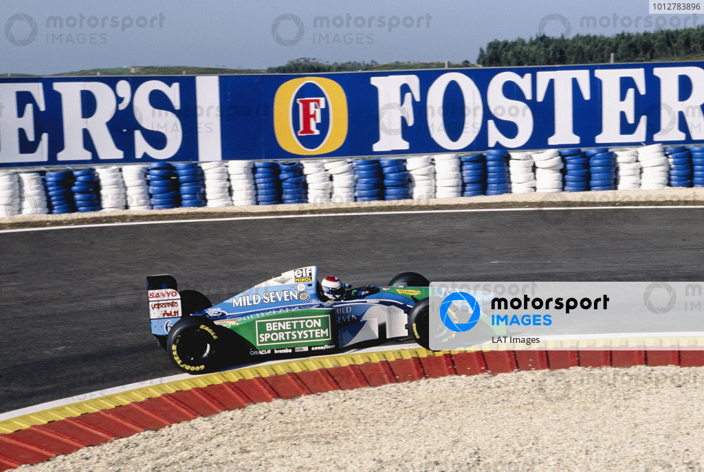1994 Portuguese Grand Prix.Estoril, Portugal. 23-25 September 1994.Jos Verstappen (Benetton B194 Ford) 5th position.Ref-94 POR 16.World Copyright - LAT Photographic