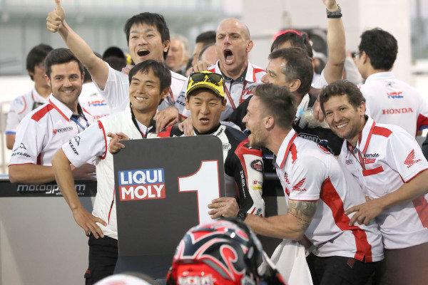 Race winner Kaito Toba, Honda Team Asia.