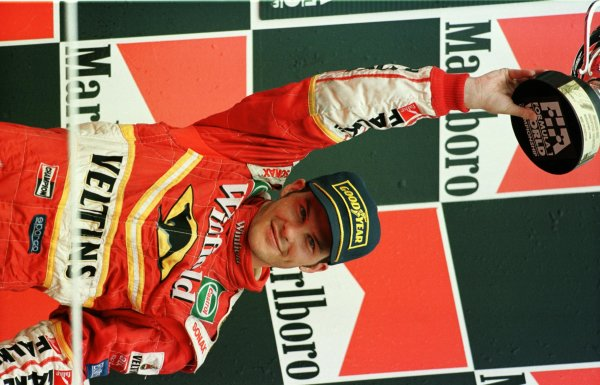 1998 Hungarian Grand Prix.Hungaroring, Budapest, Hungary.14-16 August 1998.Jacques Villeneuve (Williams Mecachrome) 3rd position.World Copyright - Steve Etherington/LAT Photographic