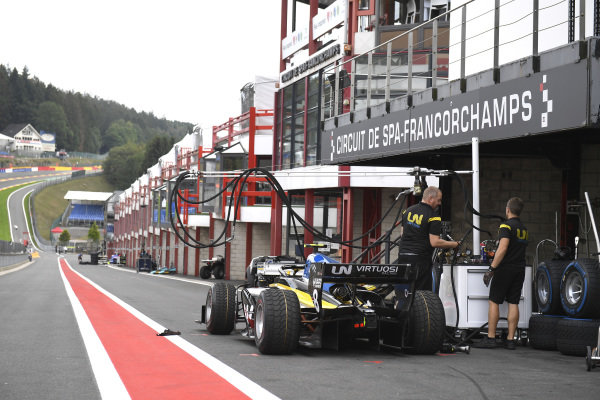 SPA-FRANCORCHAMPS, BELGIUM - AUGUST 29: Luca Ghiotto (ITA, UNI VIRTUOSI) during the Spa-Francorchamps at Spa-Francorchamps on August 29, 2019 in Spa-Francorchamps, Belgium. (Photo by LAT Images / FIA F2 Championship)