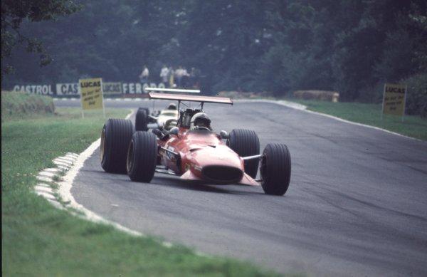 1968 British Grand Prix.Brands Hatch, England.18-20 July 1968.Chris Amon (Ferrari 312) 2nd position.Ref-68 GB 25.World Copyright - LAT Photographic