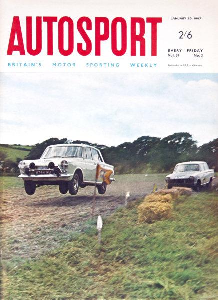 Cover of Autosport magazine, 20th January 1967