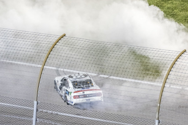 #98: Chase Briscoe, Stewart-Haas Racing, Ford Mustang Ford Performance Racing School celebrates his victory with a burn out