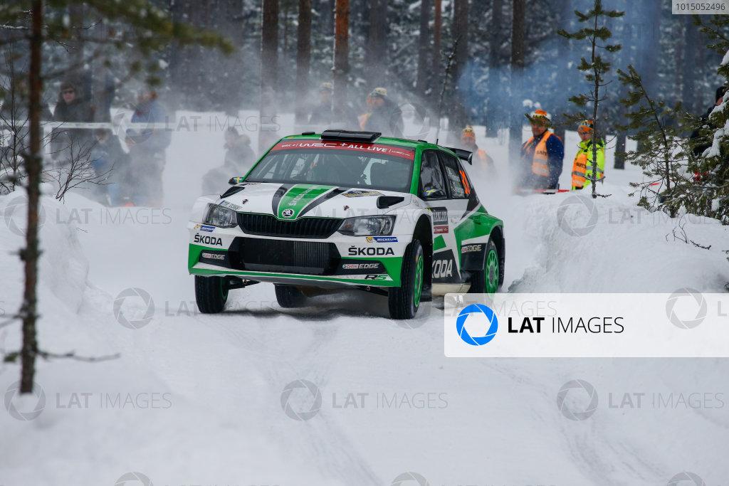 2018 FIA World Rally Championship, Round 02, Rally Sweden 2018, February 15-18, 2018. Pontus Tidemand, Skoda, Action Worldwide Copyright: McKlein/LAT