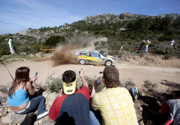 2005 World Rally Championship Rallye d'Italia, Sardinia, Italy. 29th April - 1st May 2005Mikko Hirvonen (Ford Focus WRC 03), action.World Copyright: McKlein/LAT Photographic ref: Digital Image Only