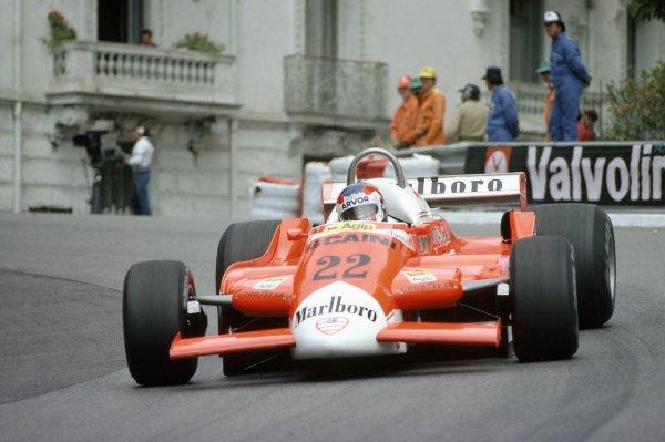 1980 Monaco Grand Prix.Monte Carlo, Monaco. 15-18 May 1980.Patrick Depailler (Alfa Romeo 179B), retired.World Copyright: LAT PhotographicRef: 35mm transparency 80MON27