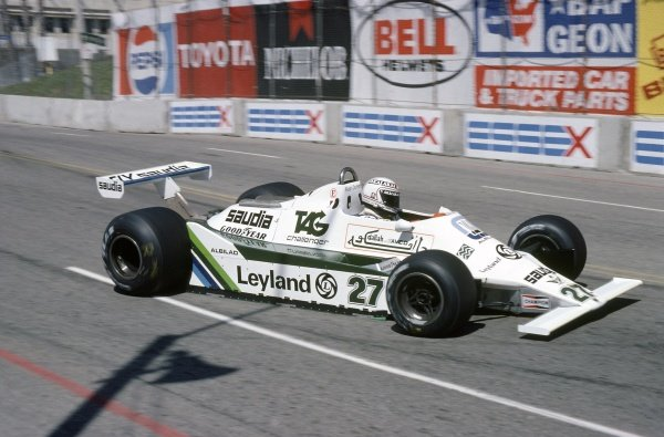 1980 United States Grand Prix West.Long Beach, California, USA. 28-30 March 1980.Alan Jones (Williams FW07B-Ford Cosworth), retired.World Copyright: LAT PhotographicRef: 35mm transparency 80LB26