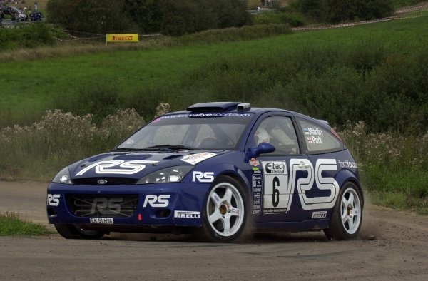 Markko Martin (EST), Ford Focus RS WRC, on Stage 21.