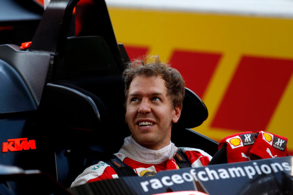 2017 Race of Champions Miami, Florida, USA Friday 20 January 2017 Sebastian Vettel  World Copyright: Alexander Trienitz/LAT Photographic ref: Digital Image 2017-24h-RoC-MIA-AT2-0205