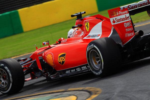 Sebastian Vettel (GER) Ferrari SF15-T at Formula One World Championship, Rd1, Australian Grand Prix, Qualifying, Albert Park, Melbourne, Australia, Saturday 14 March 2015.