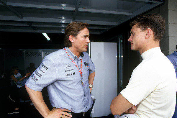Sao Paulo, Brazil. 27th - 29th March 1998David Coulthard, talks with Martin Whitmarsh, Managing Director McLaren Int. Portrait. World Copyright: Steven Tee/LAT Photographic ref: 35mm Scanned Image