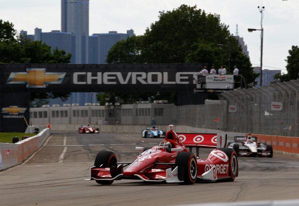 1-3 June, 2012, Detroit, Michigan, USAScott Dixon leads Will Power, Simon Pagenaud and EJ Viso.(c)2012, Phillip G. AbbottLAT Photo USA