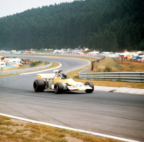 Nurburgring, Germany.28-30 July 1972.Mike Beuttler (March 721G Ford).Ref-3/5126C.World Copyright - LAT Photographic