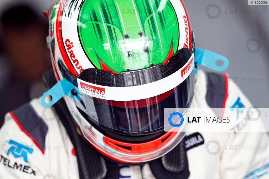 Albert Park, Melbourne, Australia 25th March 2011. Sergio Perez, Sauber C30 Ferrari. Portrait. Helmets.  World Copyright: Andrew Ferraro/LAT Photographic ref: Digital Image _Q0C7308