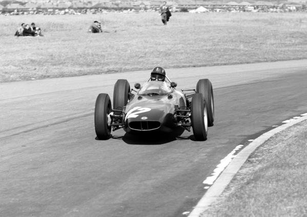 Graham Hill (GBR) BRM P57 V8 finished in 4th position