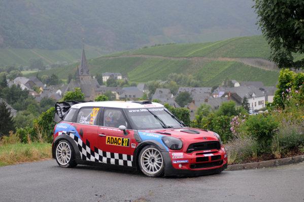 Dani Sordo (ESP) and Carlos Del Barrio (ESP), Mini JCW WRC on stage 13.FIA World Rally Championship, Rd9, ADAC Rallye Deutschland, Day Three, Trier, Germany, 26 August 2012.