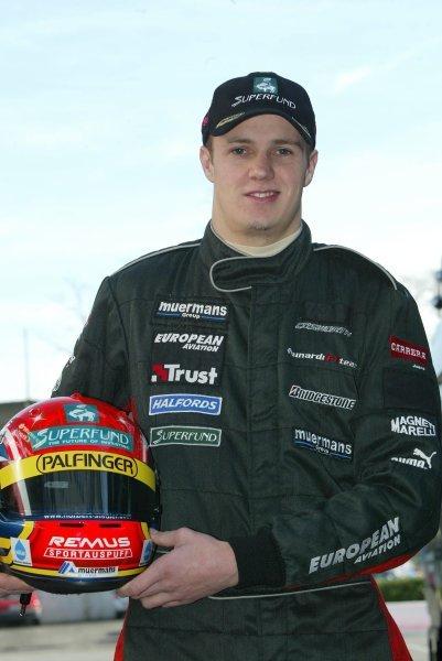 Norbert Siedler (AUT) tests for the Minardi TeamFormula One Testing , 12 December 2003 , Vallelunga , Italy .DIGITAL IMAGE