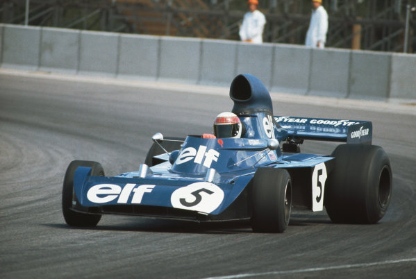 1973 Swedish Grand Prix.  Anderstorp, Sweden. 15-17th June 1973.  Jackie Stewart, Tyrrell 006 Ford, 5th position, catches a slide.  Ref: 73SWE35. World Copyright: LAT Photographic