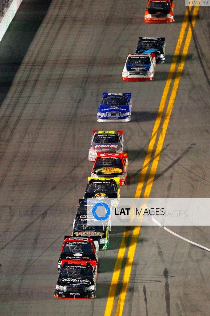 21-22 February, 2013, Daytona Beach, Florida USA Johnny Sauter and Kyle Busch.(c)2013, Russell LaBounty LAT Photo USA .