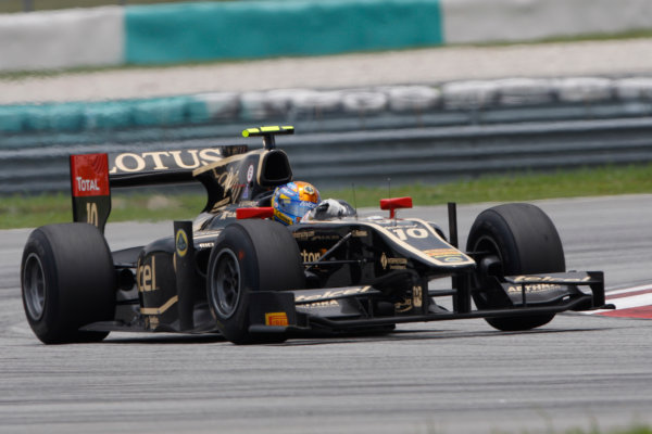 Sepang, Kuala Lumpur, Malaysia. 25th March 2012. Sunday Race.Esteban Gutierrez (MEX, Lotus GP). Action. World Copyright: Alastair Staley/GP2 Series Media Service.Ref: Digital Image _O9T2567.jpg