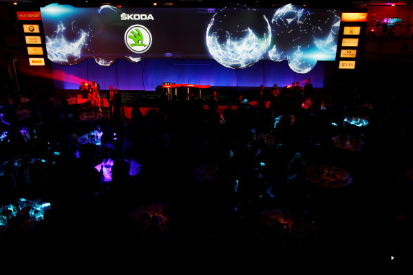 Sunday  Sponsors of the Autosport Awards are displayed on the big screen. World Copyright:Alastair Staley/  ref: Digital Image _O9T8861