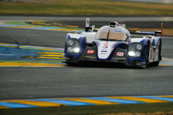 9th June, 2013, Le Mans, France Toyota Racing: Anthony Davidson, Sébastien Buemi, Stéphane Sarrazin.(c) 2013, Camden Thrasher LAT Photo USA