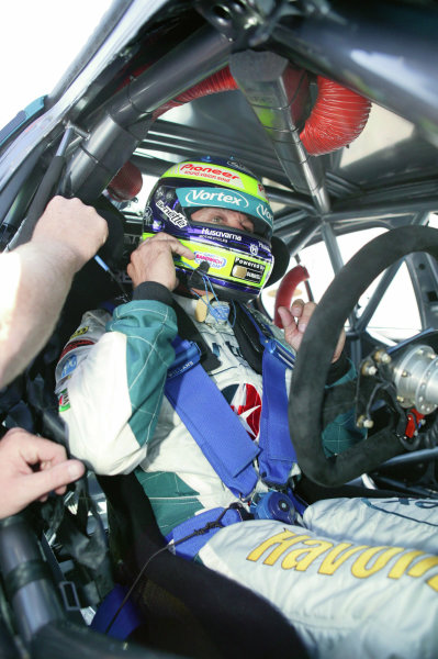 2005 Australian V8 SupercarsAlbert Park, Melbourne, Australia. 4th - 6th March.Russell Ingall (Falcon BA) prepares for the start of the race.World Copyright: Mark Horsburgh/LAT Photographicref: Digital Image Only