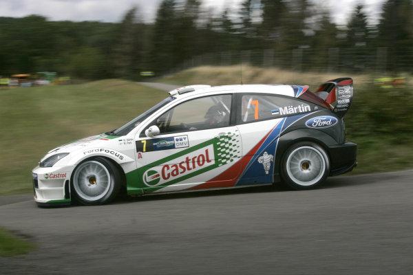 2004 FIA World Rally Champs. Round ten, OMV Deutschland Rally.19th - 22nd August 2004.Markko Martin, Ford, action.World Copyright: McKlein/LAT