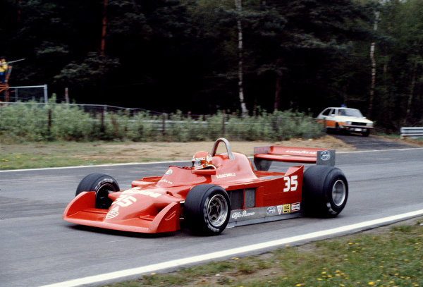 1979 Belgian Grand Prix.Zolder, Belgium.11-13 May 1979.Bruno Giacomelli (Alfa Romeo 177).Ref-79 BEL 25.World Copyright - LAT Photographic