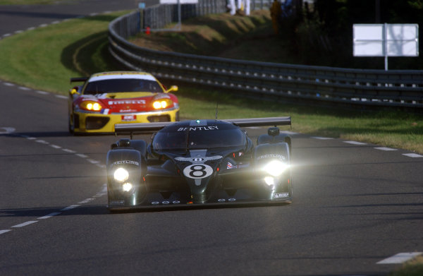 2003 Le mans 24 HoursLe Mans, France. 11th June 2003The Bentley GTP of Brabham/Herbert/Blundell, action.World Copyright: Geoff Bloxham/LAT Photographicref: Digital Image Only