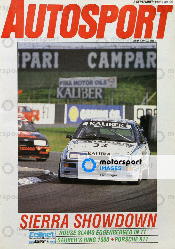 Cover of Autosport magazine, 8th September 1988