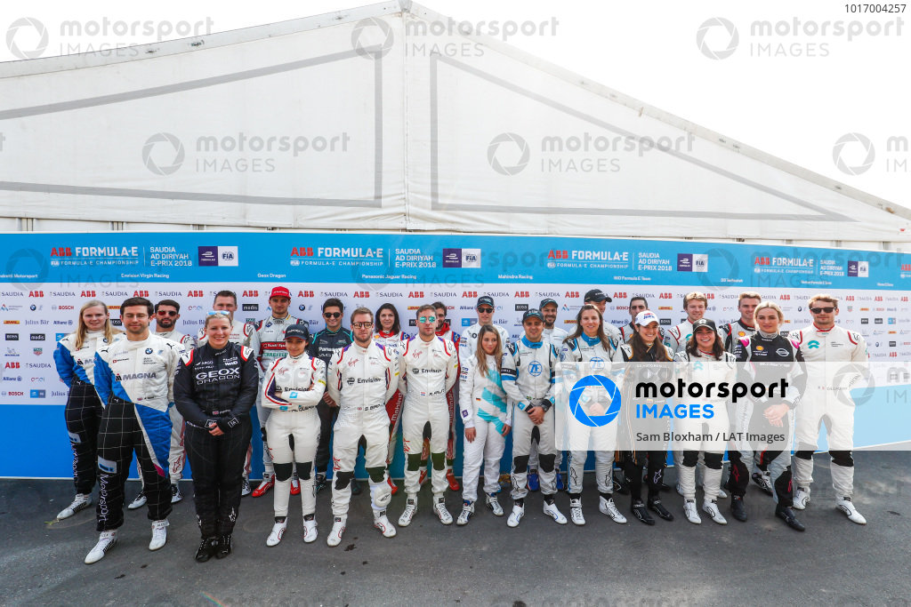 Testing Driver line up for the Ad Diriyah test in Saudi Arabia