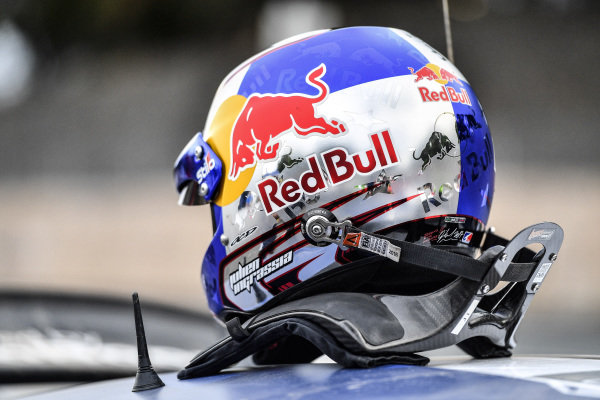 The helmet of Julien Ingrassia (FRA), M-Sport World Rally Team WRC at World Rally Championship, Rd13, Rally Australia, Day Three, Coffs Harbour, New South Wales, Australia, 19 November 2017.