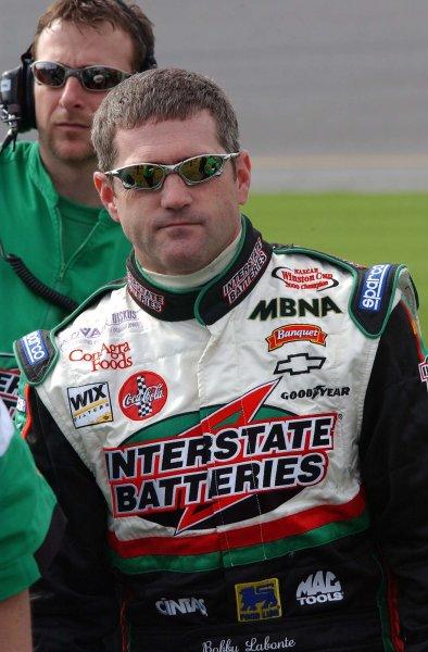 2003 NASCAR Winston Cup Qualifying-10, February 2003-Bobby Labonte-World Copyright -Robt LeSieur 2003LAT Photographic