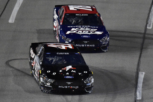 #41: Cole Custer, Stewart-Haas Racing, Ford Mustang HaasTooling.com Demo Day and #78: B.J. McLeod, Live Fast Motorsports, Ford Mustang Keen Parts
