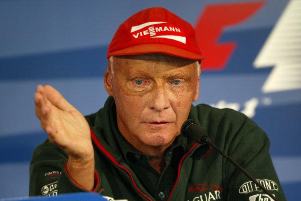 2002 USA Grand Prix - PreviewIndianapolis, USA, 26th September 2002.Niki Lauda.World Copyright: Steve Etherington/LATref: Digital Image Only