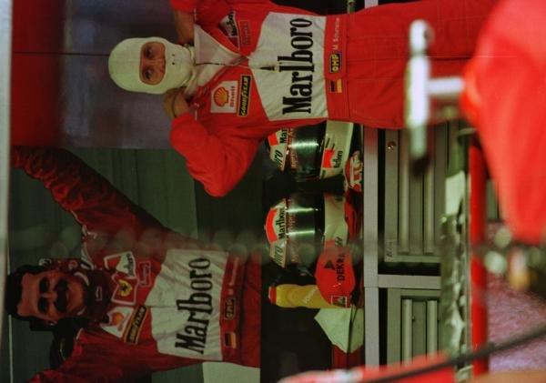 1998 Italian Grand Prix.Monza, Italy.11-13 September 1998.Michael Schumacher (Ferrari) prepares for practice.World Copyright - Steve Etherington/LAT Photographic